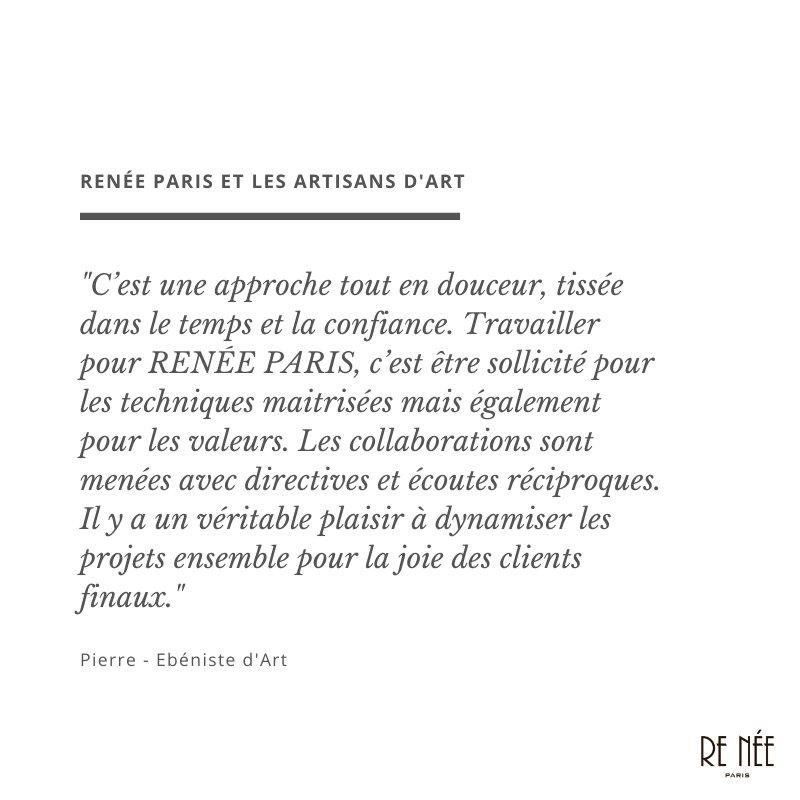 RENÉE PARIS et les artisans d'art